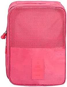"""""""صندوق أحذية وردي منظم حقيبة سفر مقاوم للماء لتخزين في الهواء الطلق"""""""