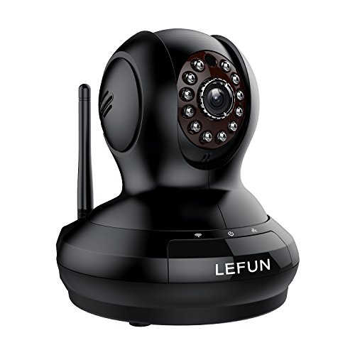Surveillance Camera, LeFun Wireless WiFi Camera with Video Recording/Two Way Audio/Night Vision/Pan Tilt Zoom/Motion Detection for Baby Monitor IP Camera Home Security Camera