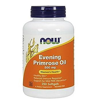 NOW Evening Primrose Oil 500 mg, mq1yb 3Pack 250 Softgels Each