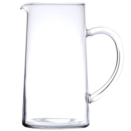 James Scott 44 Ounce Capacity Glass Clear Pitcher With Pour Lip -7 7/8 x 4 1/4 inch