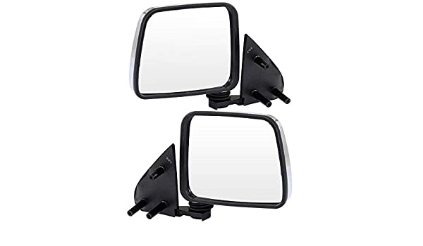 SCITOO Side View Mirror Passenger Side Mirror Fit Compatible with 1986-1997 Nissan Pickup 1986-1994 Nissan D21 1987-1995 Nissan Pathfinder Manual Adjustment Manual Folding