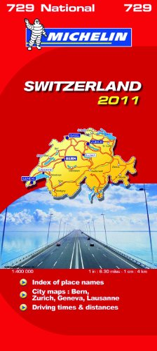 Switzerland National Map 2011 2011 (Michelin National Maps)