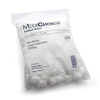 medichoice bolas de algodón, tamaño grande, no estéril, suave ...