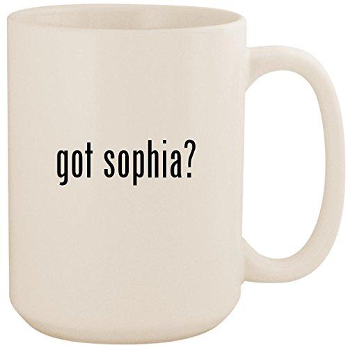 got sophia? - White 15oz Ceramic Coffee Mug Cup