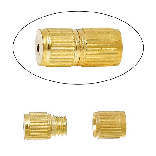 50 pcs. Gold Plated Screw Cylinder Barrel Clasps - 8mm X 4mm - Made of -