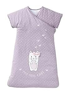 VERTBAUDET Saquito sin mangas forma kimono AEROCHAT Violeta Estampado 107: Amazon.es: Bebé