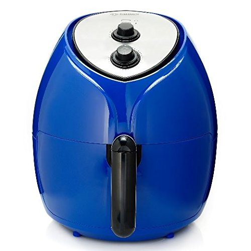 Cook's Companion 1700W 5.8 qt High Speed Air Fryer w/ 25 Recipes – Blue