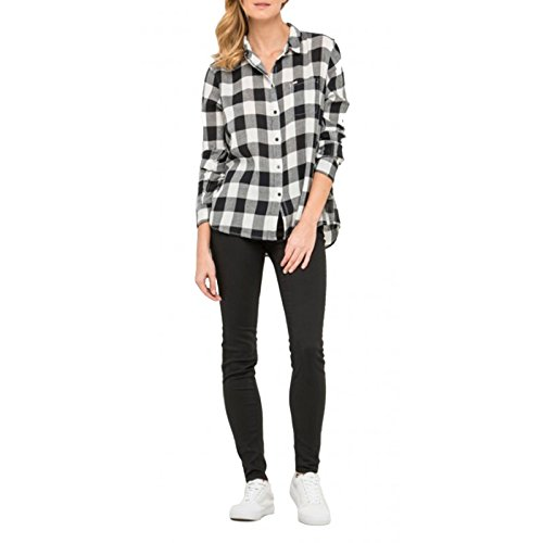 Mujeres Superior Ropa Plaid Ultimate Lee Noir Blusa Túnica Zqd7c1x