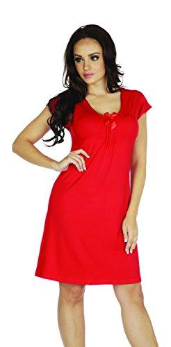 Pigiama Vestaglia Da Notte Rosso Camicia Donna waAY0xWq
