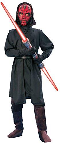 [Boys Darth Maul Deluxe Kids Child Fancy Dress Party Halloween Costume, L (12-14)] (Child Darth Maul Costumes)