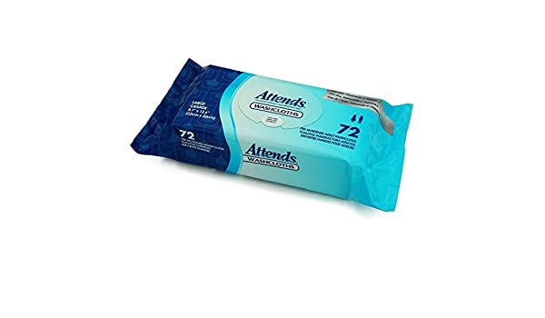 Amazon.com: Attends Large Cleansing Washcloths Pop-Up Pak - 12 pks of 72: Health & Personal Care