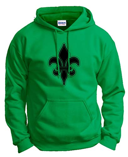 St. Fleur-de-LYS Vintage MardiGras Top Mardi Gras Clothes Fleur de Lis Mardi Gras Apparel Hoodie Sweatshirt Large Green