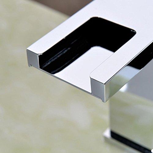 Lightinthebox Single Handle Widespread Waterfall Bathroom Vessel Sink LED Fa