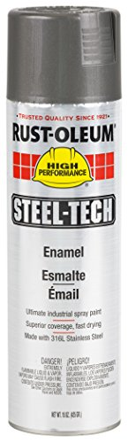 Rust-Oleum 268863 Steel-Tech Spray Paint, 20-Ounce, Stainless Steel, 6-Pack Steel Paint Cans