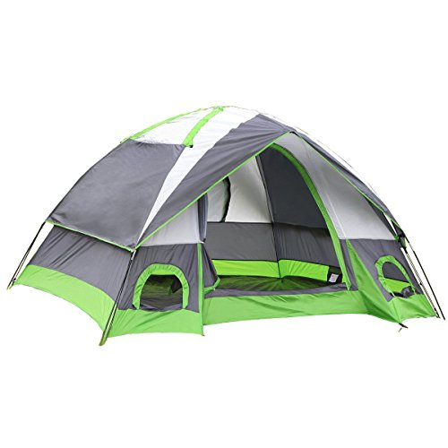 SEMOO Water Resistant D-Style Door, 4-Person Camping/Traveling Family Dome Tent with Carry Bag (Traveling Heater compare prices)
