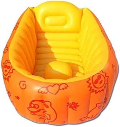XLEVE 折りたたみ子供のバスタブ、子供のインフレータブルバスタブ、子供用ポータブルバスタブ、プラスチックバスタブ、スパバスタブ、マッサージ (Color : Orange)
