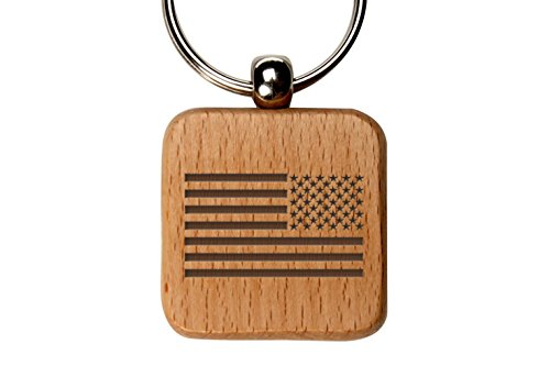 Square Battle Flag (Square Wooden Key Chain NDZ United States Battle Flag)