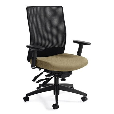 Medium Back Mesh Task Chair with Multi-Tilter Color: Beach Day