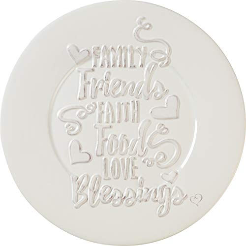 Precious Moments Bountiful Blessings Family Friends Faith Food Love Blessings Ceramic Round Serving Plate 10 Inch 182424