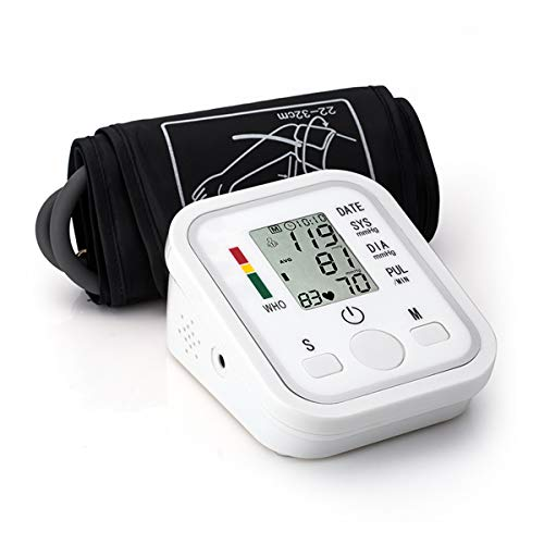 Blood Pressure Monitor Automatic Digital Upper Arm BP Cuff, 99-Reading Memory, 2-Users Mode, Speaker,Large LCD Display-Universal Cuff Size (M)