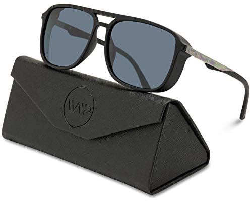 WearMe Pro EXCLUSIVE - Polarized Modern Square Aviator Sunglasses for ()