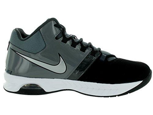Zapatos de entrenamiento del zumbido del aire de impacto desmontable grapas del balompié del deport Black/Mtllc Slvr/Drk Gry/Anthracite