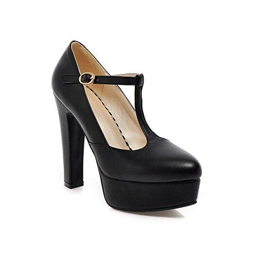 YCMDM DONNA Ultra High con la moda scarpe T stazione Buckle impermeabili della piattaforma singoli pattini , black , 38