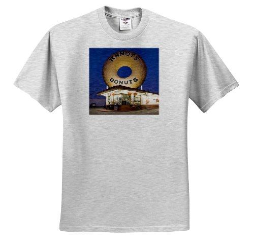 Danita Delimont - California - USA, California, Inglewood. Randys Donuts, dawn - US05 WBI0514 - Walter Bibikow - T-Shirts - Adult Birch-Gray-T-Shirt 2XL (ts_88655_22)