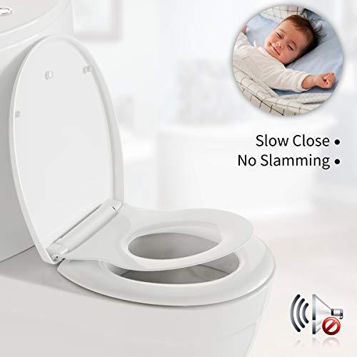 Morpilot Abattant WC Familial, Abattant WC en Forme de O, Système innovant de fermeture en douceur avec Frein de Chute et Démontage Rapide, Abattant WC en Polypropylène pour Adultes et Enfants