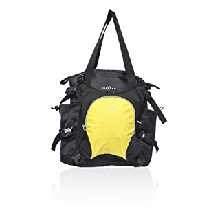 Obersee Innsbruck Diaper Bag Tote with Cooler, Black/Yellow