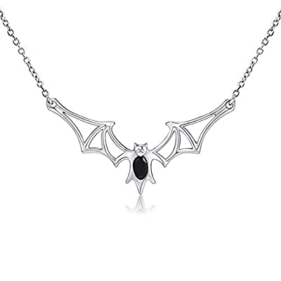 Sterling Silver Bat Pendant Necklace