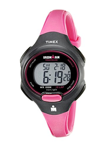 Timex T5K525 LadiesIronman 10-Lap Watch Hot Pink/Black