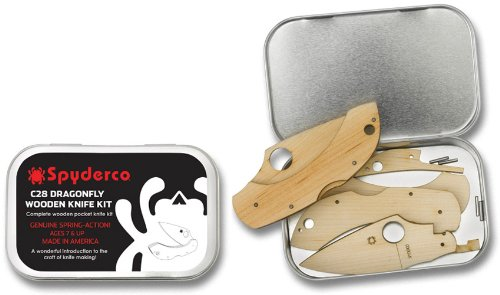 Spyderco Dragonfly Wooden Knife Kit Gift Tin