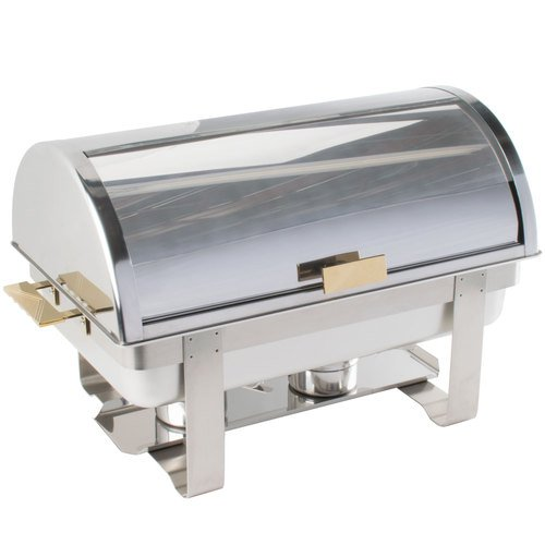 (Roll Top Deluxe Full Size Rectangle 8 Qt. Stainless Steel Chafing Dishes)