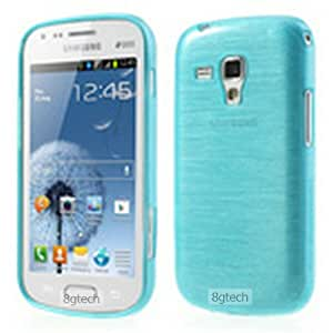8gtech Blue Luxury Brushed TPU Skin Cover Case for Samsung Galaxy Ace II 2 X S7560M