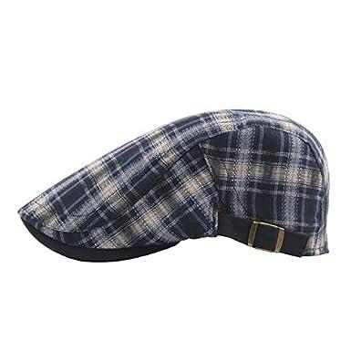 Gysad Sombrero Hombre Diseño a Cuadros Boinas de Hombre Colores Estilo  Caballero Boinas de Hombre Invierno Cálido y Confortable Sombrero de  Invierno ... 5cab1b4217f