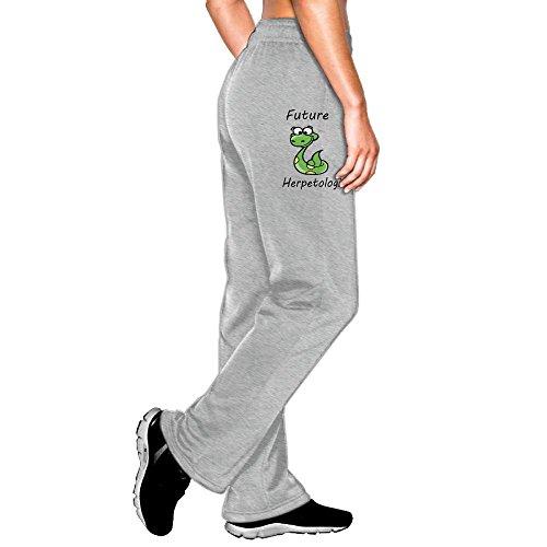 AKKK47 Cute Future Herpetologist Snake Women's Cotton Jersey Sweatpant Jogger Pant With Pockets Ash XL