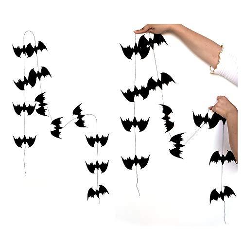 Halloween Decoration, Proboths Pumpkin Spider Bat Banners DIY Party Décor 12 Pcs Black Bats