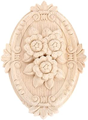 MUXSAM 10pcs Wood Carved Applique Frame Onlay Unpainted Furniture