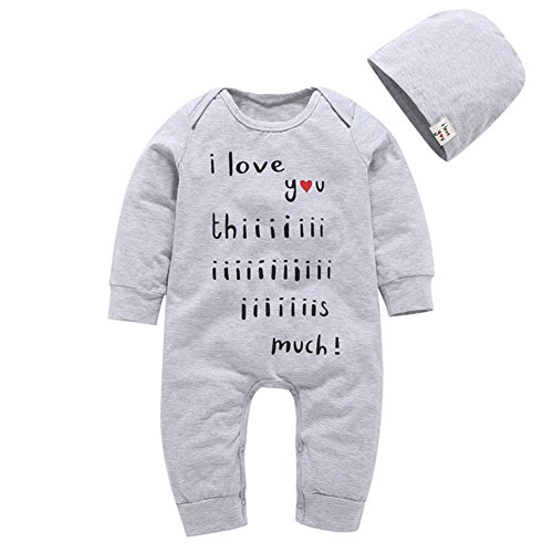 outlet Kidsa 0-24M Baby Boys Long Sleeve One-pieces Romper