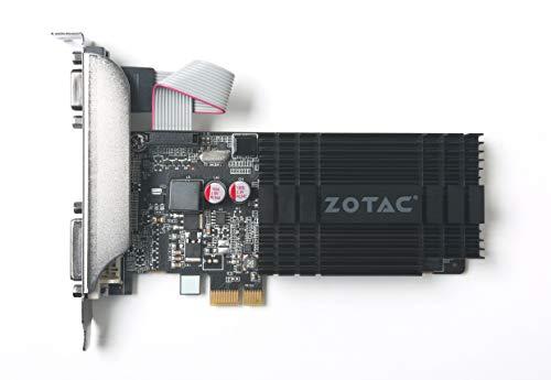 ZOTAC GeForce GT 710 1GB DDR3 PCIE x 1 , DVI, HDMI, VGA, Low Profile Graphic Card (ZT-71304-20L) by ZOTAC (Image #1)