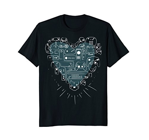 Video Game Controller Heart T shirt for Gamers and Players