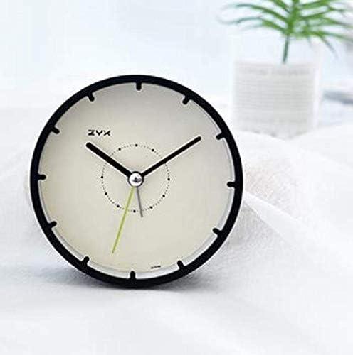 子供の目覚まし時計クリエイティブベッドサイドかわいい目覚まし時計ミュートシンプルな創造的な北欧スタイルの電子発光寝室ホームオフィス旅行