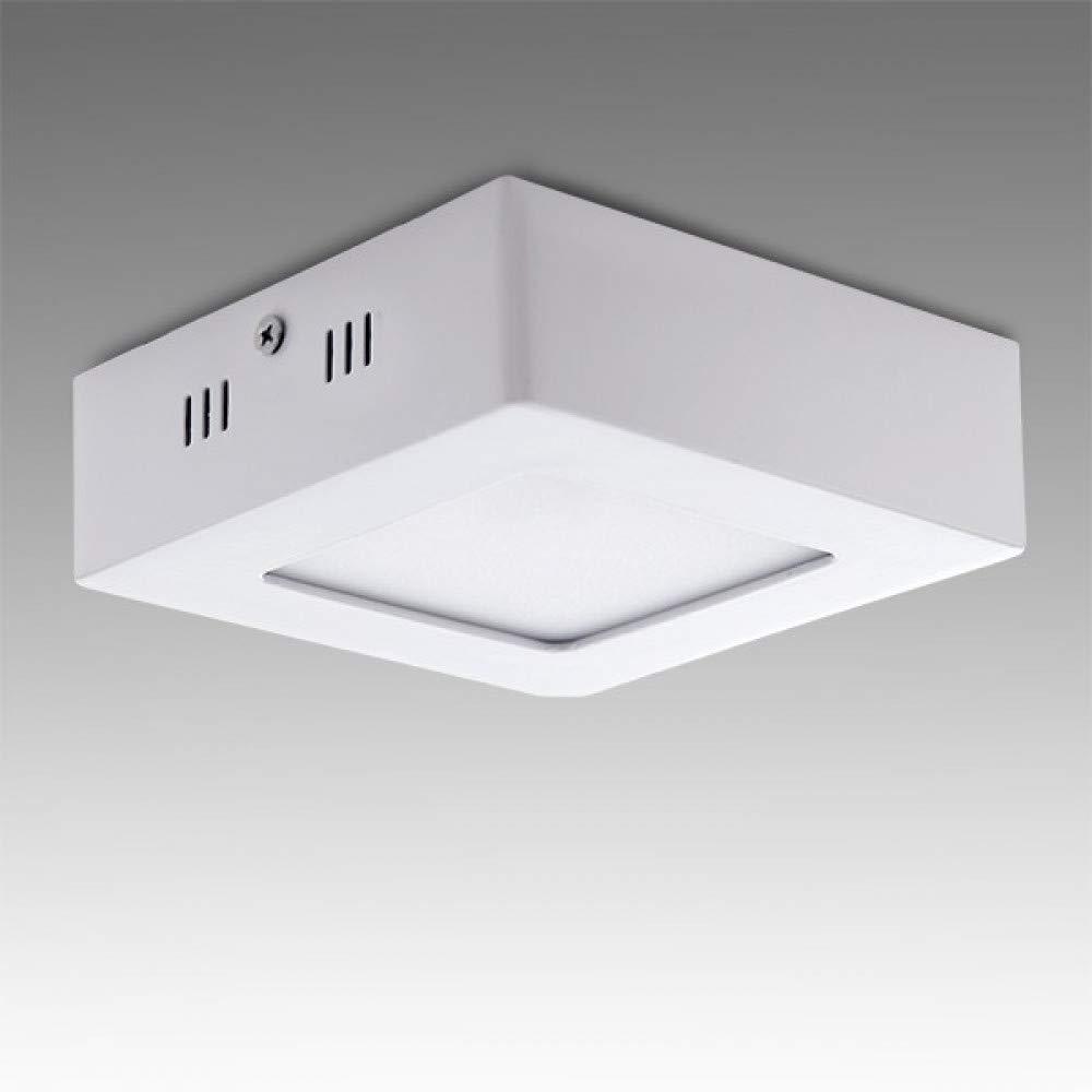 Plaf/ón LED Cuadrado Superficie 120Mm 6W 470Lm 30.000H Blanco Natural Greenice
