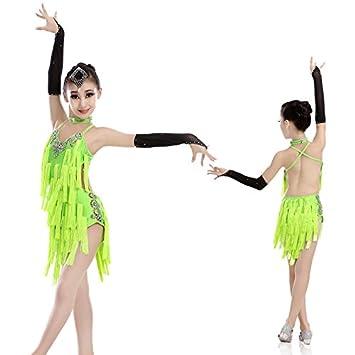 ae431daa8970 Rapidora (TM) Professional Children Latin Dance Dress Cha Cha/Rumba/Samba/