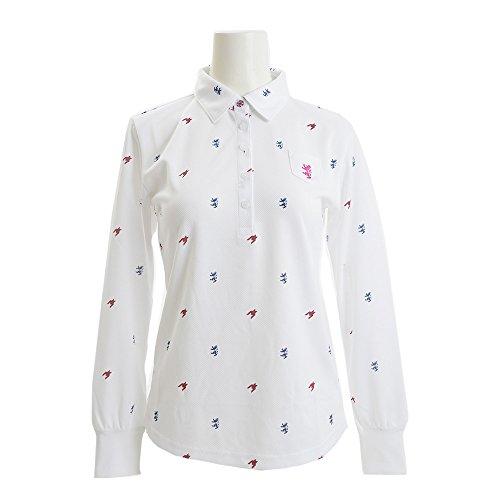 アドミラル Admiral 長袖シャツ?ポロシャツ 総柄千鳥ランパント長袖ポロシャツ ADLA799 レディス