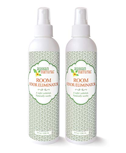 Aussan Natural Room Odor Eliminator Spray 8oz (Pack of 2)