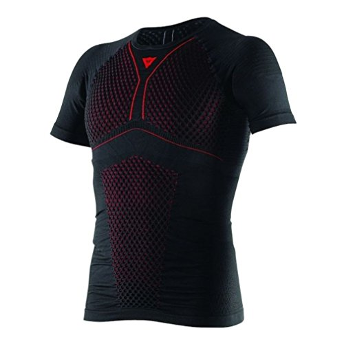 - Dainese Core Thermo Mens Short Sleeve Base Layer Shirt (XL, Black/Red)