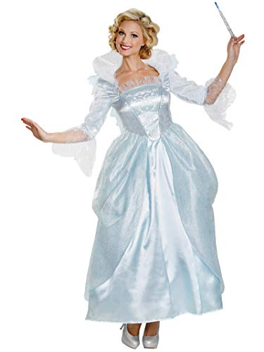 Disguise Women's Fairy Godmother Movie Adult Prestige Costume, White, Small