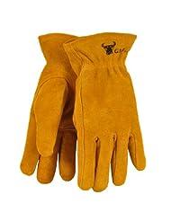 G & F 5013M JustForKids Kids Genuine Leather Work Gloves, Kid...